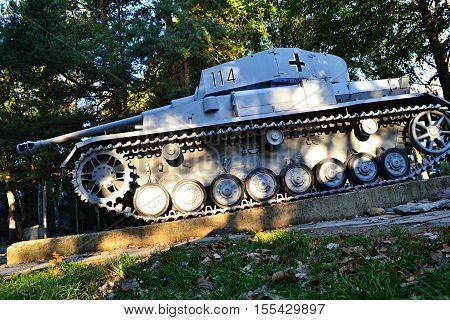 panzer/Slovakia Banska Bystrica 28 september 2014 Military equipment Memorial of World War 2