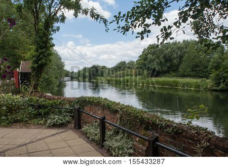 Countryside along the River Great Ouse in Bedfordshire