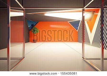 Modern Orange Interior