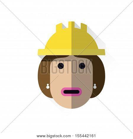 Working Woman With Helmet