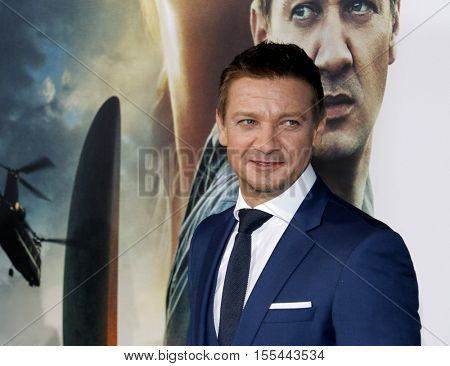 Jeremy Renner at the Los Angeles premiere of 'Arrival' held at the Regency Village Theater in Westwood, USA on November 6, 2016.