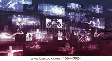 Healthcare Technology Company Presentation Abstract Background Art 3d Illustration Render