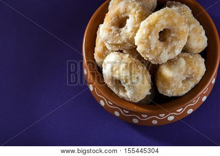 poster of Indian Traditional Sweet Food Balushahi in Clay Pot