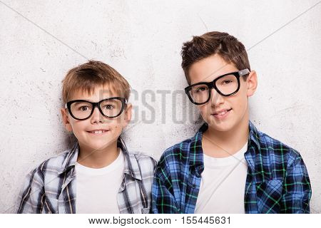 Two Young Brothers Posing.