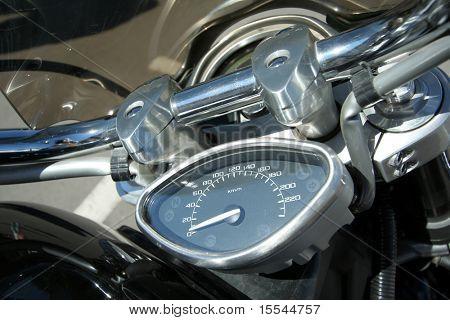 Part of a motorcycle, rudder, speedmeter