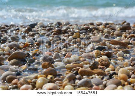 stones on the beach near the sea