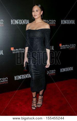 LOS ANGELES - NOV 6:  Chrissy Teigen at the 9th Hamilton Behind The Camera Awards at Exchange LA on November 6, 2016 in Los Angeles, CA