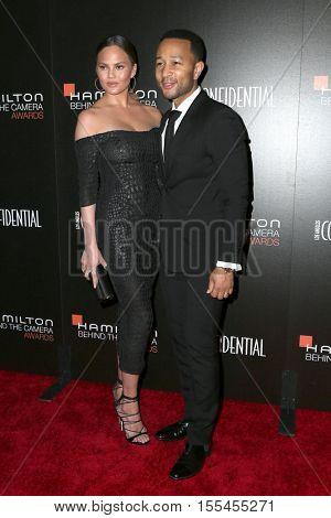 LOS ANGELES - NOV 6:  Chrissy Teigen, John Legend at the 9th Hamilton Behind The Camera Awards at Exchange LA on November 6, 2016 in Los Angeles, CA