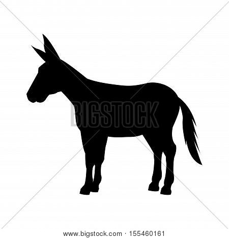 donkey silhouette isolated icon vector illustration design