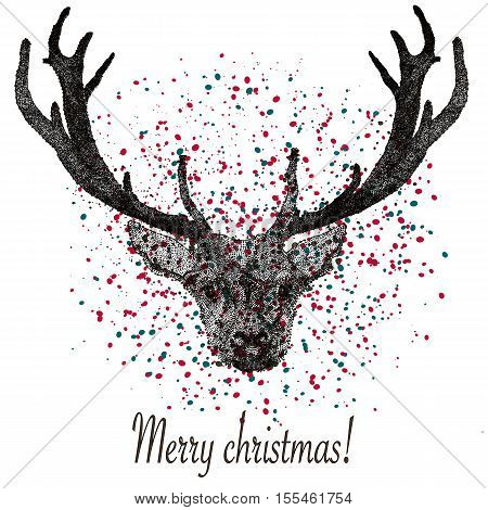 merry cristmas deer for your design in vectors.