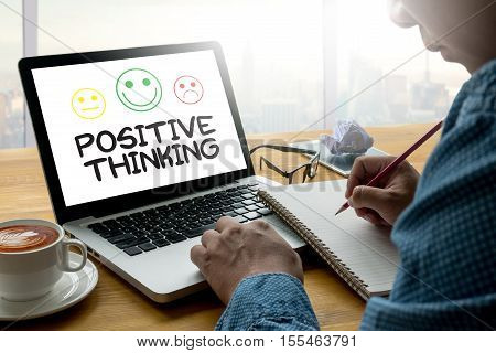 POSITIVE THINKING action, adult, attitude, background, belief, better, black