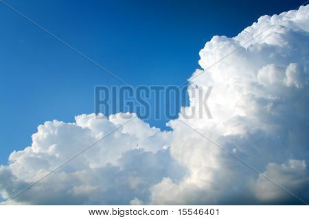 Cloud on blue sky. Background