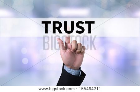 TRUST Business Concept and TRUST FUND achievement, announcement,