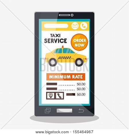 taxi cab service online smartphone vector illustration eps 10