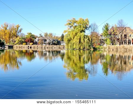 Pond in Thornhill Canada November 6 2016