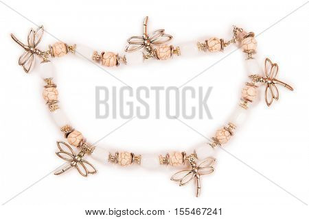 Jewellery bracelet armlet isolated on white background poster