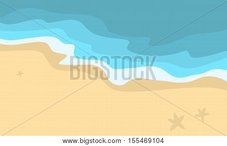 Vector illustration of beach scenery collection stock