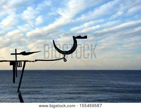 Sydney Australia - Nov 6 2016. Orest Keywan: Long Day's Journey. Sculpture by the Sea along the Bondi to Coogee coastal walk is the world's largest free to the public sculpture exhibitions.