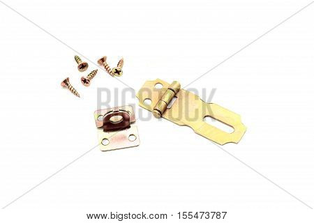 Rainbow Hasp With Screw Isolated On White Background