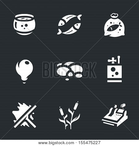 aquarium, fish, bag with water, light, rocks, oxygen, scraper, cane, cash.