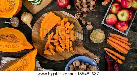 Autumn Food Composition