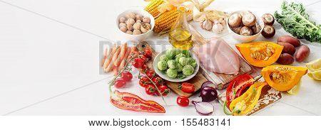 Balanced Diet Food Concept.