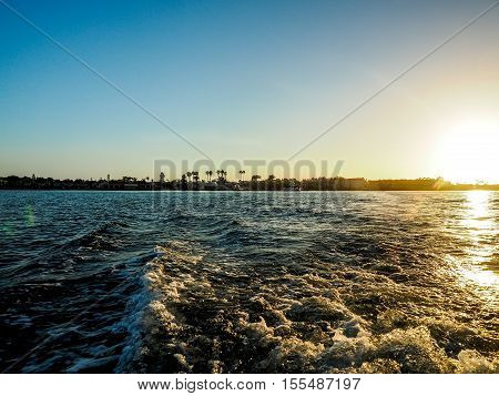 beautiful sea sunset landscape at Pacific ocean
