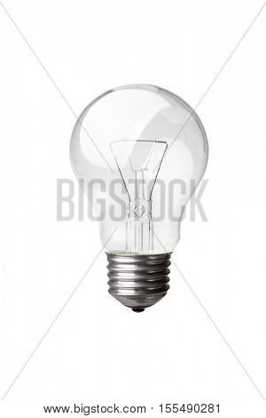 Old style light bulb isolated on white