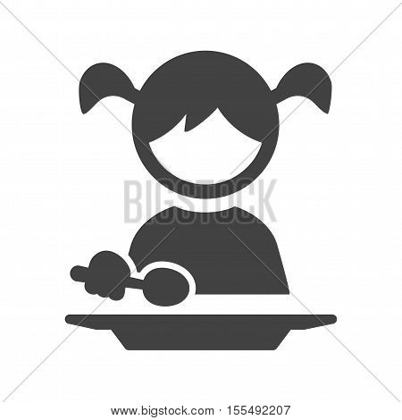 Eating, kid, child icon vector image. Can also be used for kids. Suitable for use on web apps, mobile apps and print media.