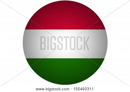 3D Hungary national flag illustration symbol .