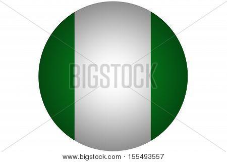 3D Nigeria flag ,Nigeria national flag illustration symbol.