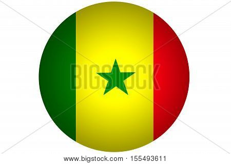 3D Senegal flag ,Senegal national flag illustration symbol.