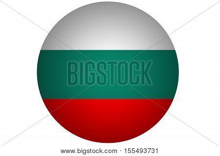 3D Bulgaria flag ,Bulgaria national flag illustration symbol.