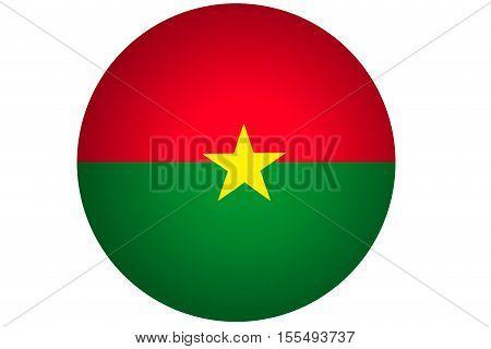 3D Burkina Faso flag ,Burkina Faso national flag illustration symbol.