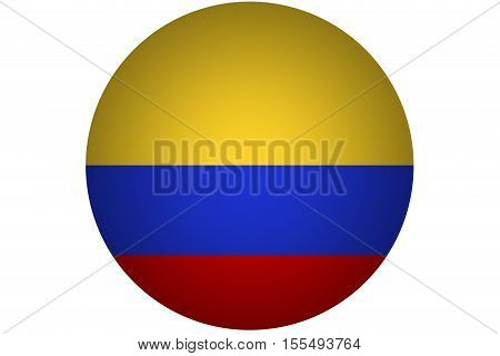 3D Columbia flag ,Columbia nation flag .