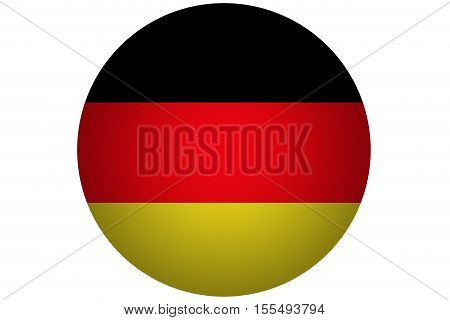 3D Germany flag ,Germany national flag illustration symbol.