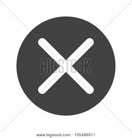 Not, cross, tape icon vector image. Can also be used for warning caution. Suitable for use on web apps, mobile apps and print media.