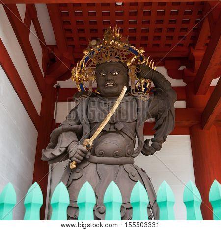 Daimon - Kongo Rikishi -Guardian Diety at Daimon Gate in Koyasan (Mt. Koya) area in Wakayama Japan