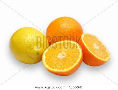Orange And Lemon Composition