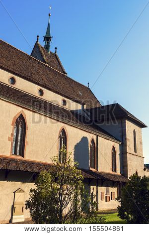 Church of St. Theodore in Basel. Basel Basel-Stadt Switzerland.
