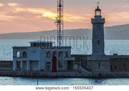Lighthouse in Marseille. Marseille Provence-Alpes-Cote d'Azur France.