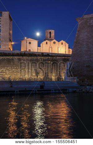 Saint-Laurent Church in Marseille. Marseille Provence-Alpes-Cote d'Azur France.