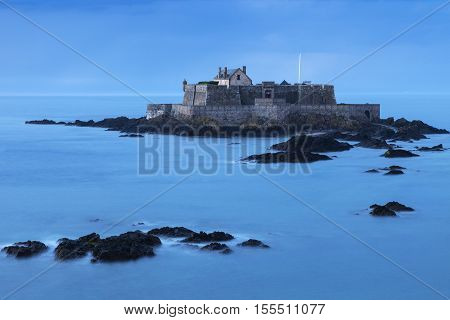 Fort National on island in St-Malo. St-Malo Brittany France