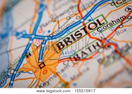 Bristol City On A Road Map