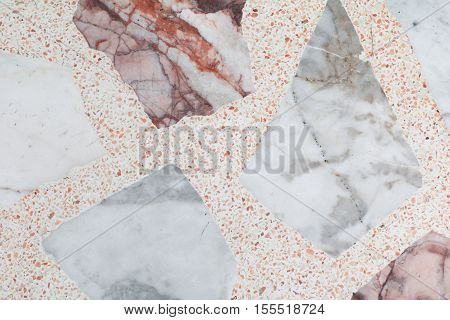 Marble patterned texture Terrazzo Floor polished stone pattern background and color