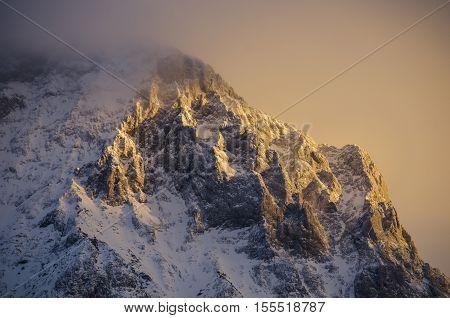 Snowy Alps. January in the Alps. Austria Снежные Альпы. Январь в Альпа