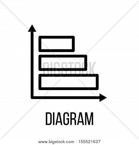Diagram icon logo vector photo free trial bigstock diagram icon or logo in modern line style high quality black outline pictogram for web ccuart Image collections