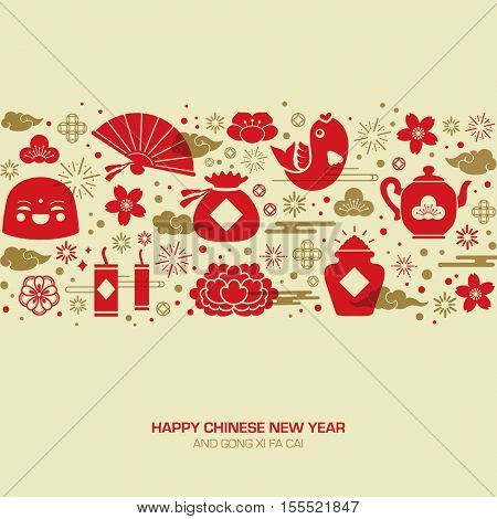Chinese new year greeting card.