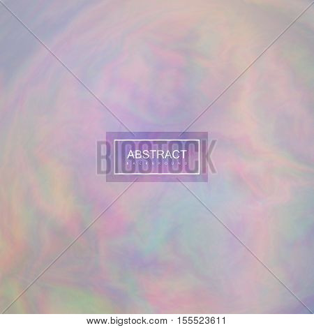 Fluid iridescent multicolored background. Vector illustration of iridescent rainbow fluids. Holographic neon effect. Applicable for flyer, banner, poster, brochure, cover. Spectrum colors
