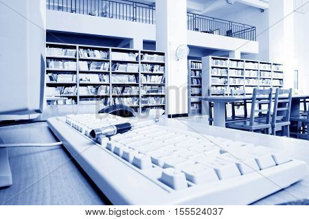 The library has a large number of books.